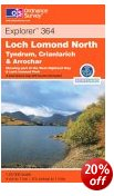 Loch Lomond North - Tyndrum, Crianlarich, Arrochar - OS Explorer Map