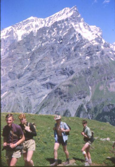Doldenhorn on ascent to Lotschen Pass