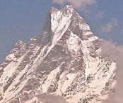 Macchapucchre ( The Fishtail Mountain ) in the Nepal Himalaya