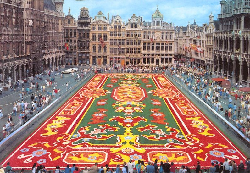 Flower Carpet in Grand Plaza in Brussels