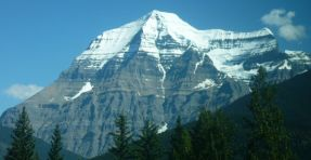 Mount Robson in Rocky Mountains of Canada