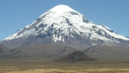Volcano Sajama - highest mountain in Bolivia