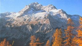 Triglav the highest mountain in the Julian Alps of Slovenia