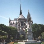 Notre Dame in Paris, capital city of France
