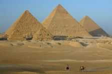 The Pyramids in Cairo - capital city of Egypt
