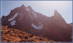Mount Kenya - highest summit in Kenya and second highest in Africa